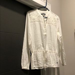 White A&F long sleeve blouse - new with tags!